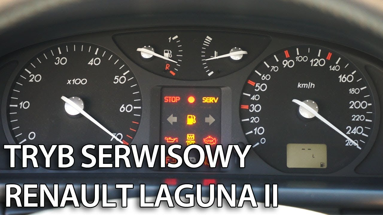 Ukryte menu zegarów w Renault Laguna II (tryb serwisowy