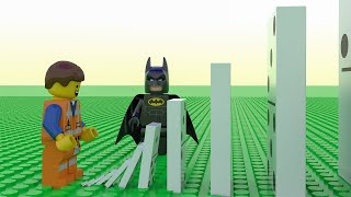 Regular Dominoes Vs Giant LEGO - With Lego Batman
