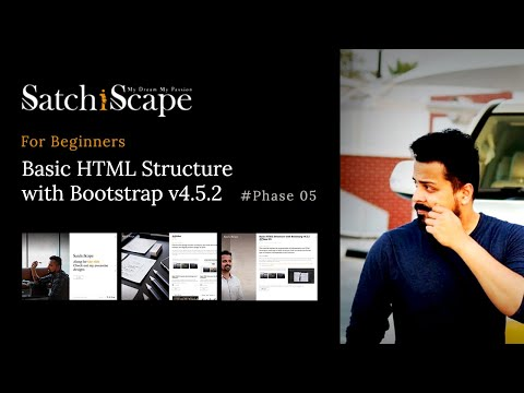 Basic HTML Tutorial With Bootstrap V4.5.2, HTML5, CSS3 For Beginners Phase05