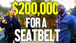 $200,000 LAWSUIT OVER SEAT BELT TICKET
