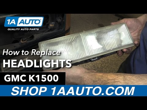 How to Replace Install Headlights 90-98 GMC Sierra K1500