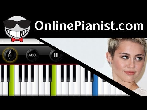 Miley Cyrus - Adore You Piano Tutorial & Sheets (Easy Version)