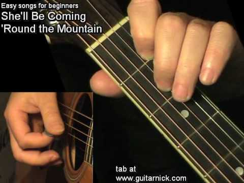 SHE'LL BE COMING 'ROUND THE MOUNTAIN: Easy Guitar Lesson + TAB by GuitarNick