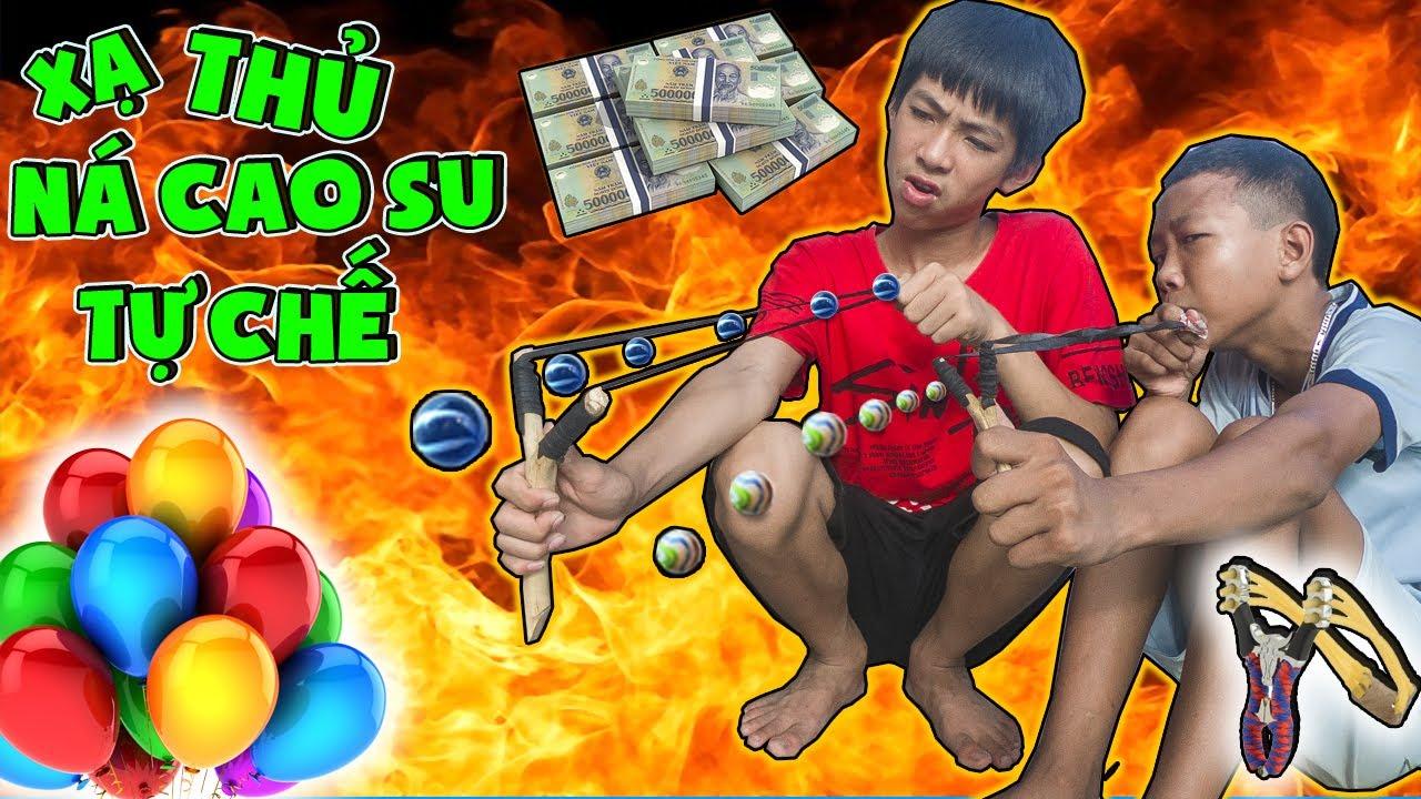 Thái Chuối | Cuộc Thi Làm Ná Cao Su Bắn Bóng Ăn Tiền - Vua Bắn Ná