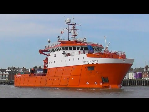 GLOMAR WAVE - Offshore accommodation/support ship arriving at Great Yarmouth 29/4/21.