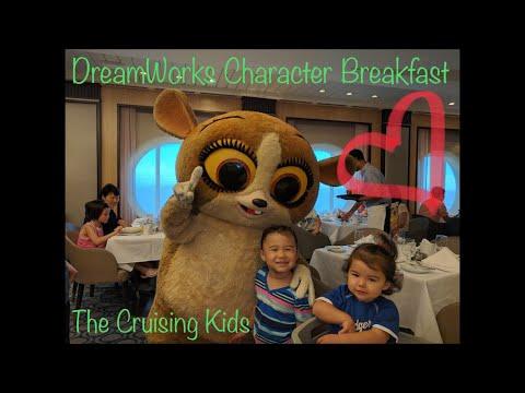 Royal Caribbean DreamWorks Character Breakfast Allure Of The Seas ⚓️ The Cruising Kids!!!