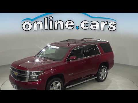 A13071GT Used 2017 Chevrolet Tahoe LS 4WD Red SUV Test Drive, Review, For Sale