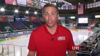 Brad Cesak 6pm A-Block Live Shot from Mudbugs Game 4-27-18