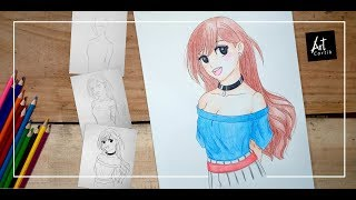 How to Draw Anime Girl Step by Step | How to Draw Girl | Drawing Tutorial for Beginners