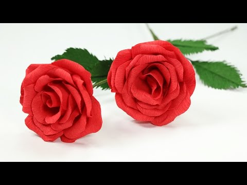 DIY Paper Flowers: How to Make Paper Rose with Crepe Paper