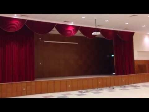 Public school - stage curtain - Kuwait, Doha.
