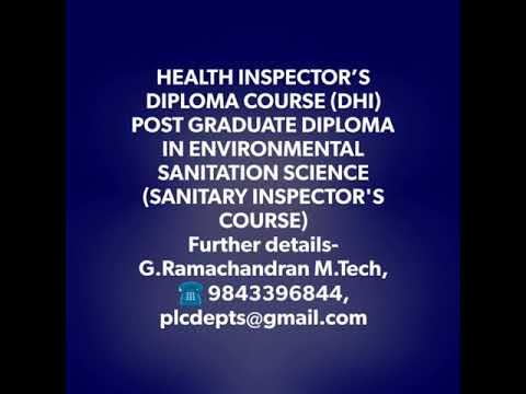 Tamilnadu , Course details Health Inspector, Aircraft Maintenance Engineering, Sanitary Health Insp