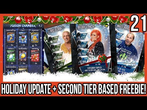NEW HOLIDAY FUSION CARDS! HOLIDAY UPDATE! + SECOND MONSTER TIER FREEBIE! #WWESUPERCARD SEASON 4 #21