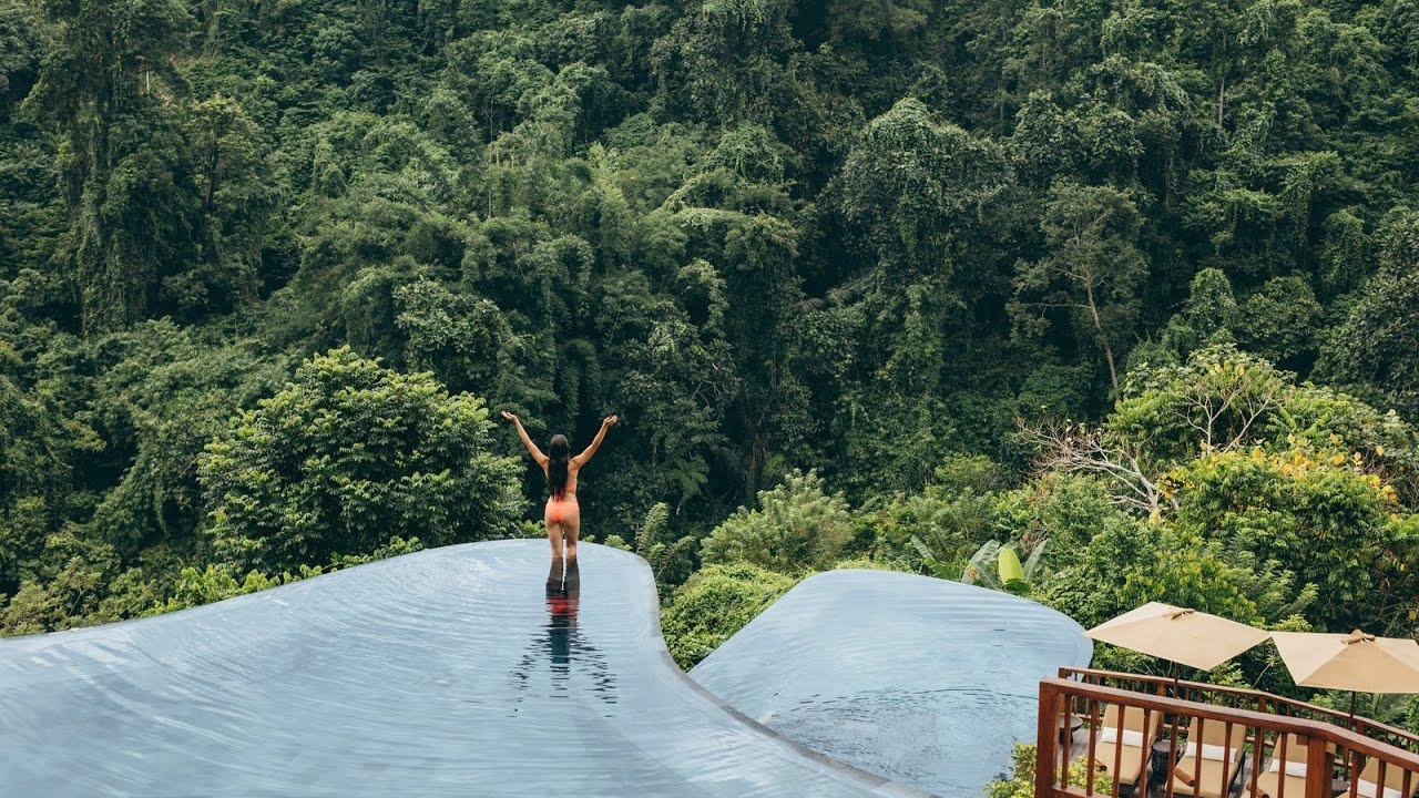 World S Best Swimming Pool Hanging Gardens Of Bali Resort Youtube