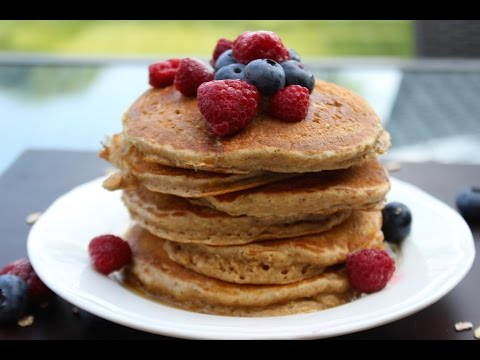 how-to-make-fluffy-oatmeal-pancakes---healthy-recipe