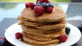 How To Make Fluffy Oatmeal Pancakes - Healthy Recipe