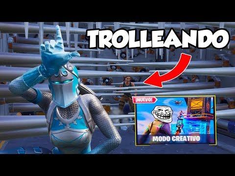 LE TROLLEO EN EL MODO CREATIVO DE FORTNITE!!