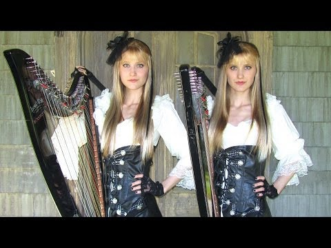 IRON MAIDEN - Dance of Death - Harp Twins (Camille and Kennerly) HARP METAL