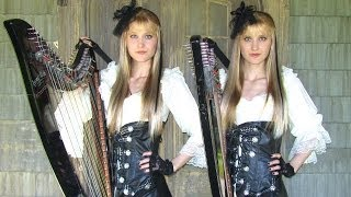 DANCE OF DEATH ( IRON MAIDEN ) Harp Twins - Camille and Kennerly