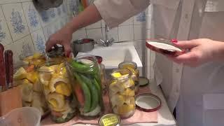 Патиссоны и острый перец консервированные