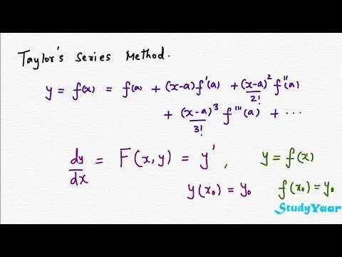 Numerical Solutions of Differential Equations - Taylor