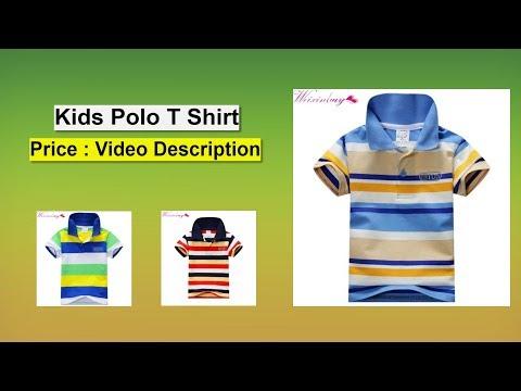 New Polo T Shirt For Kids, Summer Short Sleeve Polo T Shirt For 1 - 7 Year Kids Purchase Link