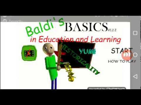 Eu jogando baldi bacis in education and learning | especial