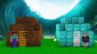ZENGİN EVİ VS FAKİR EVİ! TEHLİKELİ TUSUNAMİ! 😱 - Minecraft