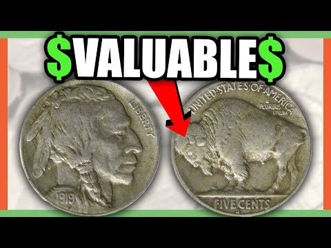 CHECK COIN COLLECTION FOR THESE RARE NICKELS WORTH MONEY - BUFFALO NICKEL ERROR COINS!!