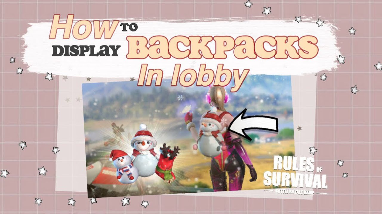 [VIDEO] - How To Display Backpacks In Lobby + Buying Comet Outfit and Winter Wonderland Backpacks! RoS 1