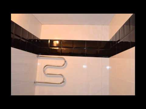 Укладка плитки. Закончена Черно-белая ванна.