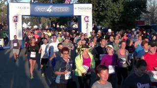 Start of 2013 Fort4Fitness Half Marathon - September 28, 2013 - Fort Wayne, Indiana