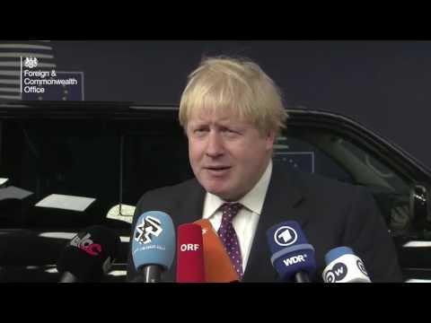Foreign Secretary Boris Johnson, EU Foreign Affairs Council - 6 February 2017