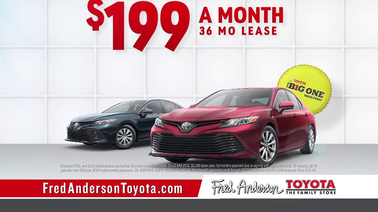 Fred Anderson Toyota   The Big One   Camry Specials