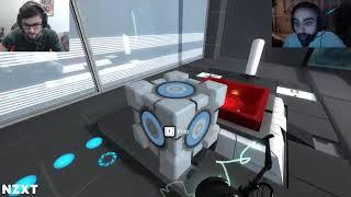 YASSUO and SLIKER playing Portal 2