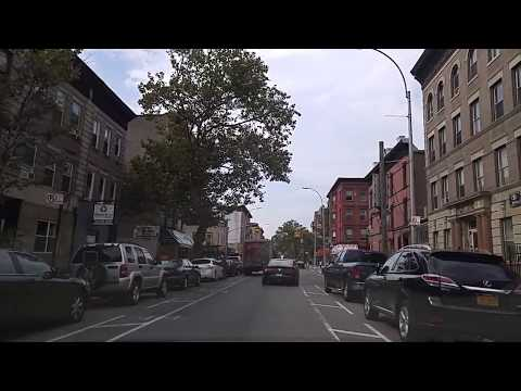 Driving from Bedford Stuyvesant to Bushwick Brooklyn,New York
