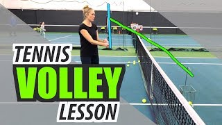 Volley Tennis Lesson - Technique and Drills for Beginners