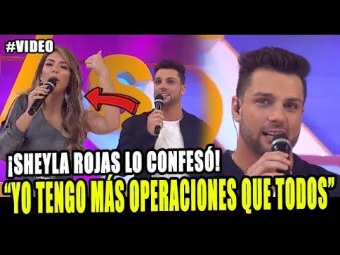 SHEYLA ROJAS CONFESÓ QUE ELLA TIENE MÁS OPERACIONES QUE NICOLA PORCELLA