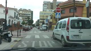 Los Boliches asemalta kohti Nuriasol ja Mediterraneo Real