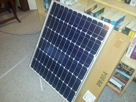 Torture test of the 100W solar power system.