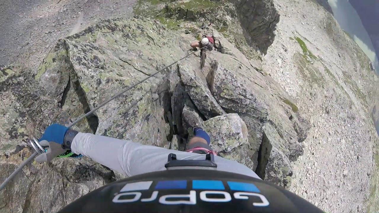 Klettersteig Krokodil : Via ferrata swiss alps krokodil klettersteig youtube