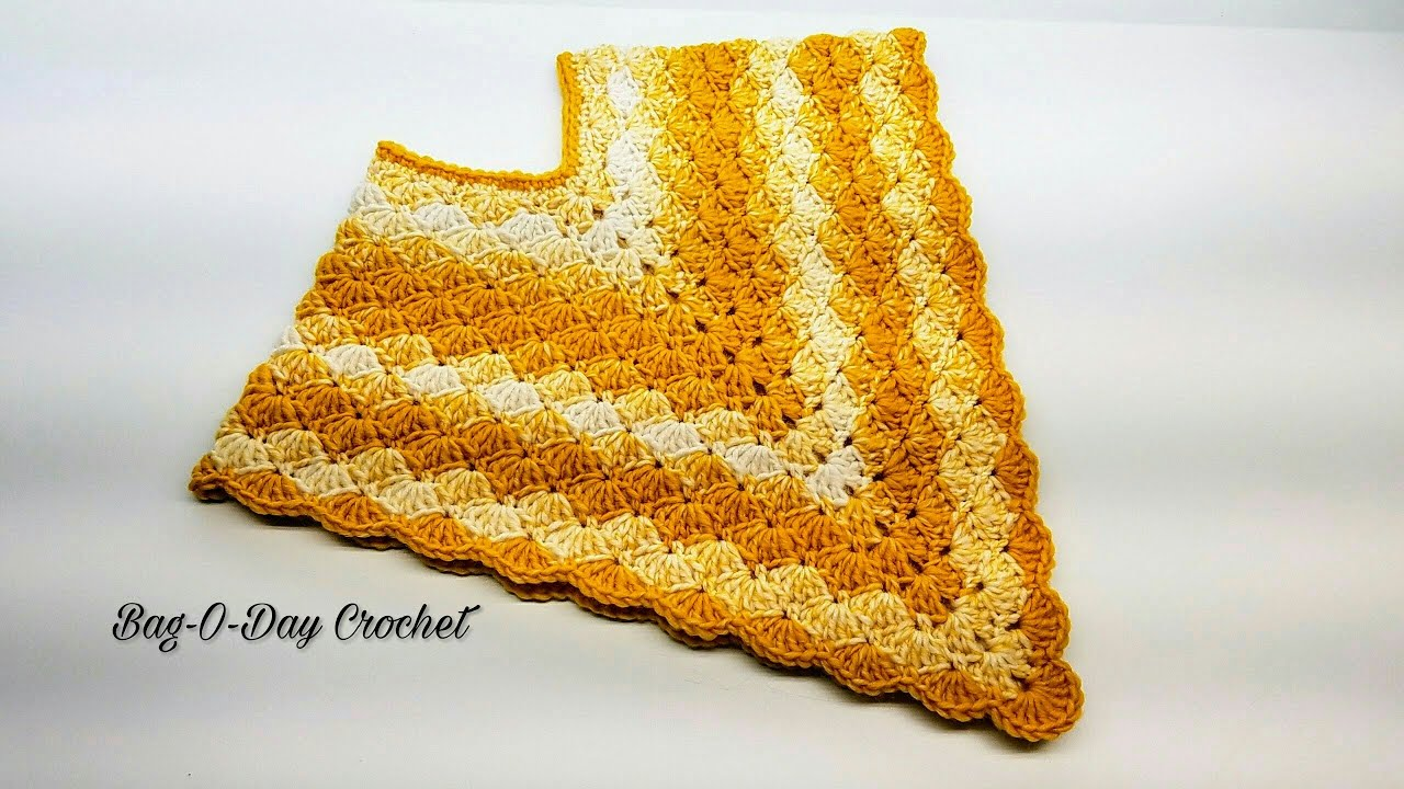 Crochet kids poncho Little Golden Girl Toddler Baby Poncho Crochet Poncho  Tutorial #416