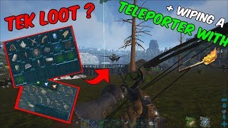 ARK Official PVP   WIPING A TELEPORTER WITH FLAME ARROWS + EASY TEK :D   ep. 19
