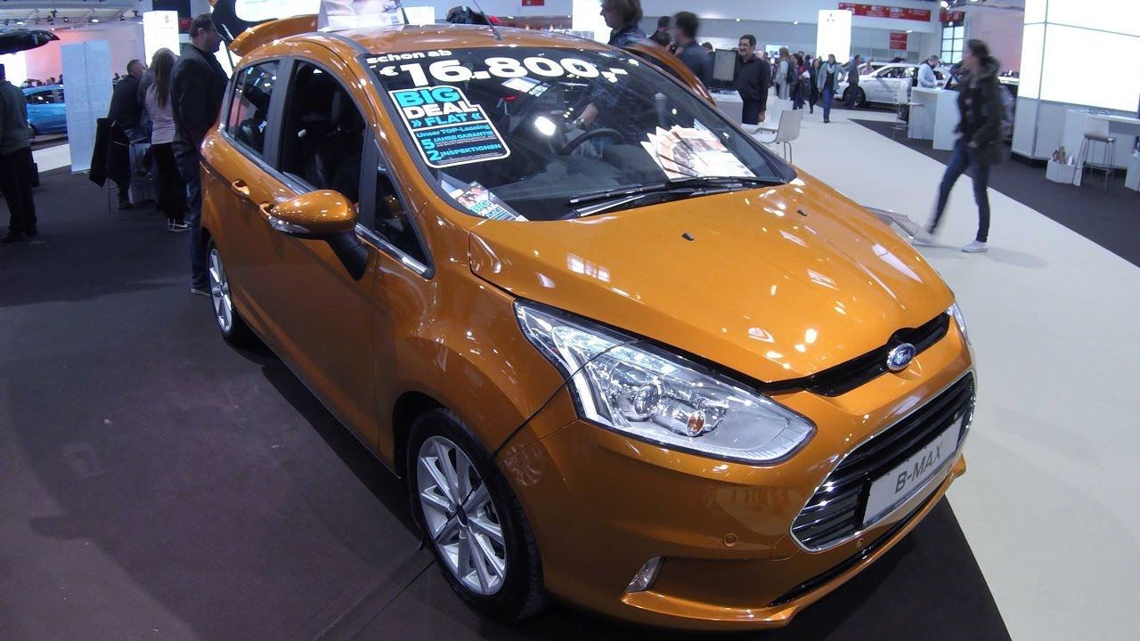 ford b max titanium calypso orange colour walkaround. Black Bedroom Furniture Sets. Home Design Ideas