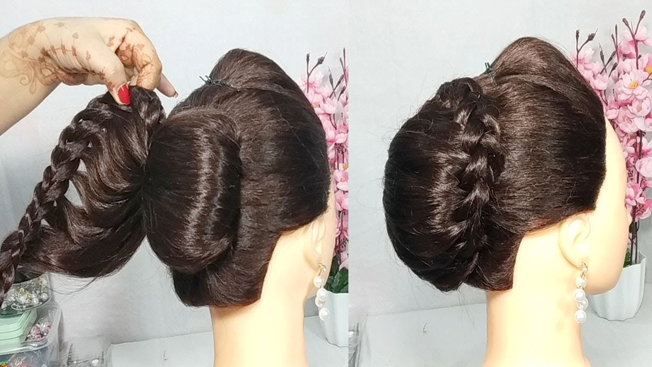 16 99 Mb Very Easy French Bun Hairstyle With Trick French Roll