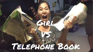 I went to a party and a guy ripped a telephone book in half so I tr...