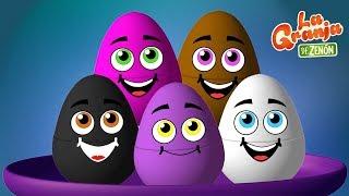 10 Huevos Sorpresa de Pollitos Pío de Colores en La Granja de Zenón | La Granja de Zenón thumbnail