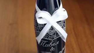 Кружевная роспись бутылки своими руками. Мастер-класс