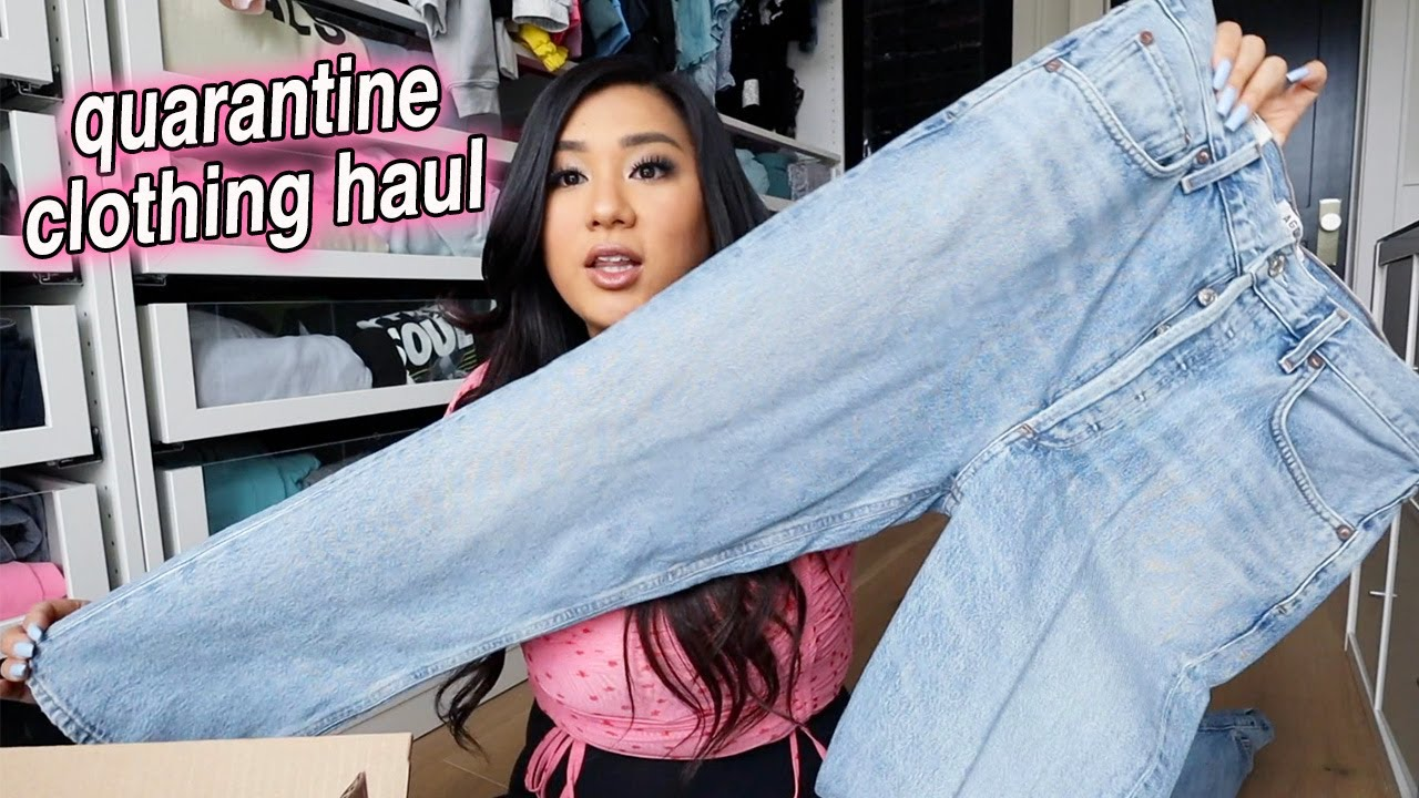 Download quarantine clothing haul + cook with me ... a lot lmao