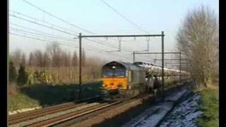 Class 66 met autotrein